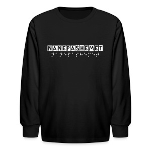 Official Nanepashemet Kids Long T (You can Customize the Lettering!) - Kids' Long Sleeve T-Shirt