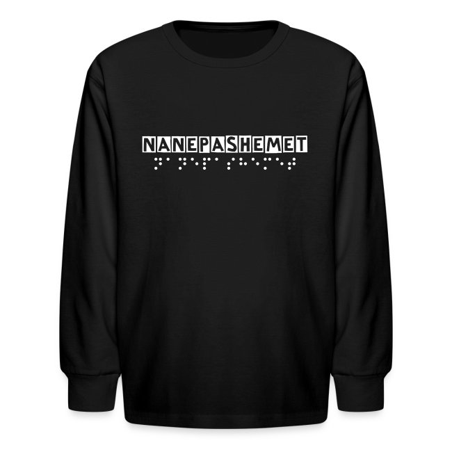 Official Nanepashemet Kids Long T (You can Customize the Lettering!)