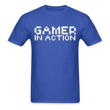 Computer humor- in Pixel GAMER IN ACTION T-Shirts