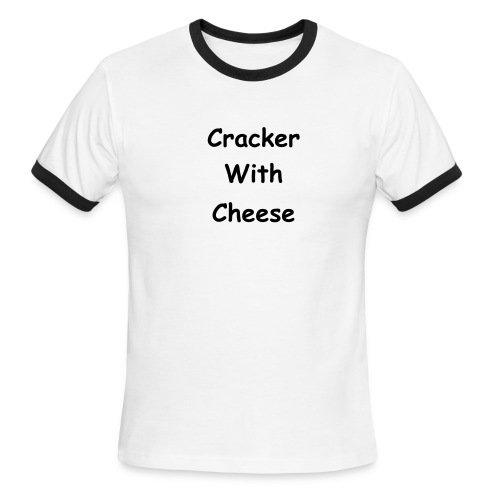 Light Blue/Dark Blue Cracker With Cheese Collared Tee - Men's Ringer T-Shirt