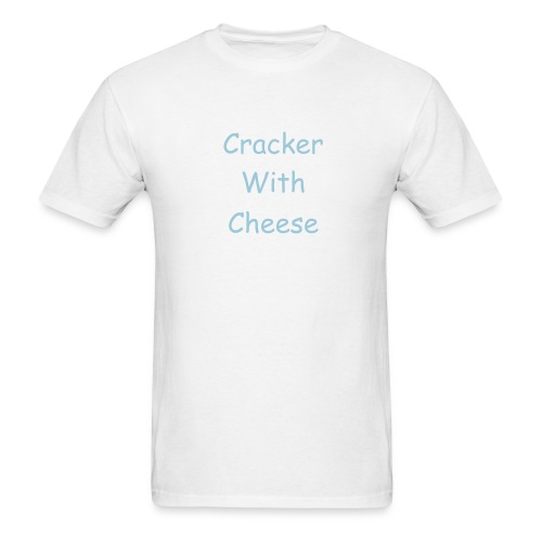 White/Light Blue Cracker With Cheese Tee - Men's T-Shirt