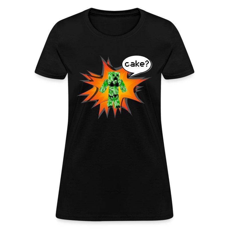 Womens Tee : Cake? - Women's T-Shirt