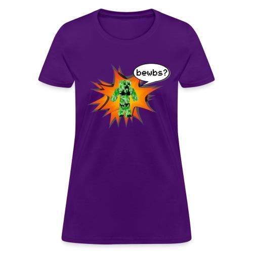 Womens Tee : Bewbs? - Women's T-Shirt
