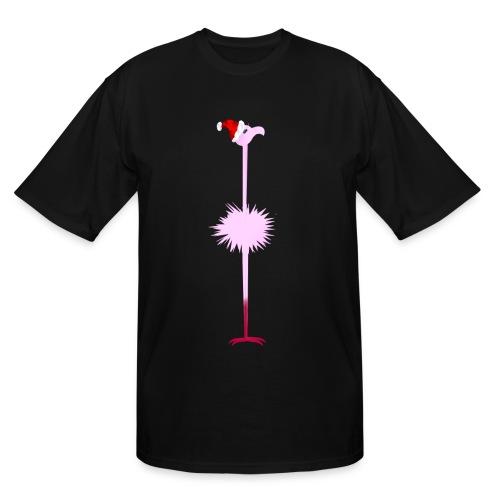 Pink Christmas Flamingo 2 - Men's Tall T-Shirt