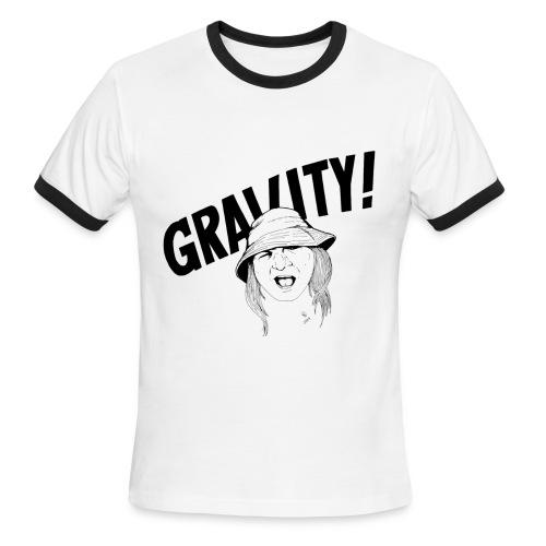 Gravity, ringer, images on both sides - Men's Ringer T-Shirt
