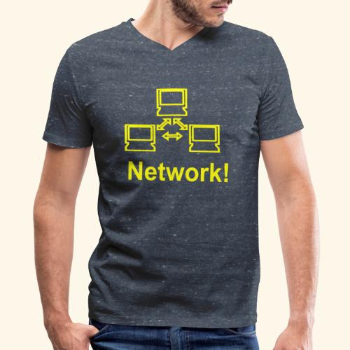 Network! - Men's V-Neck T-Shirt by Canvas