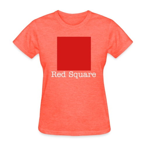 Female Red Square - Women's T-Shirt