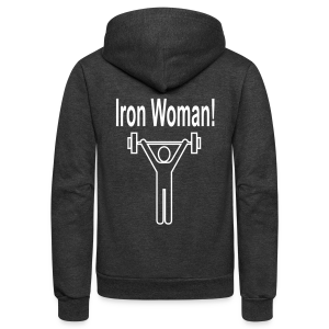 Iron Woman - Unisex Fleece Zip Hoodie by American Apparel