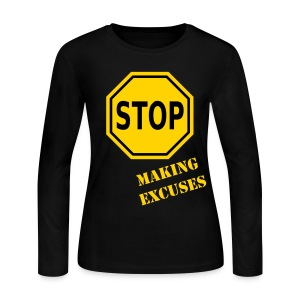 AAI: Stop Making Excuses LS Tee - Women's Long Sleeve Jersey T-Shirt