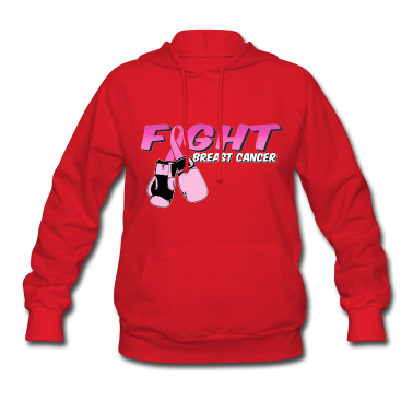 Fight Breast Cancer Pink Boxing Gloves Hoodies