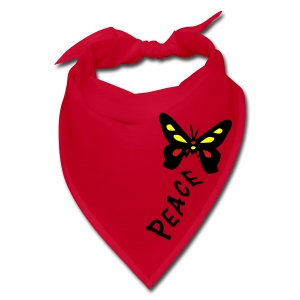 Peace txt colorful butterfly Bandana - Bandana