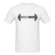 T-Shirts ~ Men's T-Shirt ~ Medium Weight Barbell MuscleHack T-Shirt