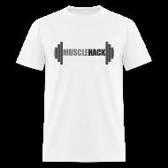 T-Shirts ~ Men's T-Shirt ~ Medium Weight Barbell MuscleHack T-Shirt