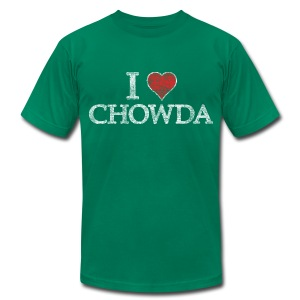 I Heart Chowda - Men's T-Shirt by American Apparel