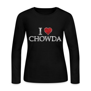 I Heart Chowda - Women's Long Sleeve Jersey T-Shirt