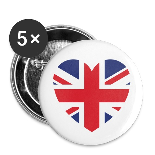 Britian Heart - Buttons - Small Buttons