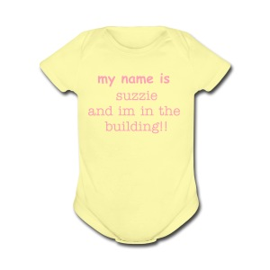 Customized baby Bigs boy/girl  - Short Sleeve Baby Bodysuit