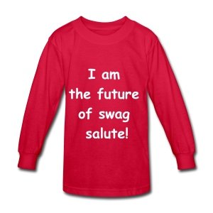kids long sleeve tee future of swag collection  - Kids' Long Sleeve T-Shirt