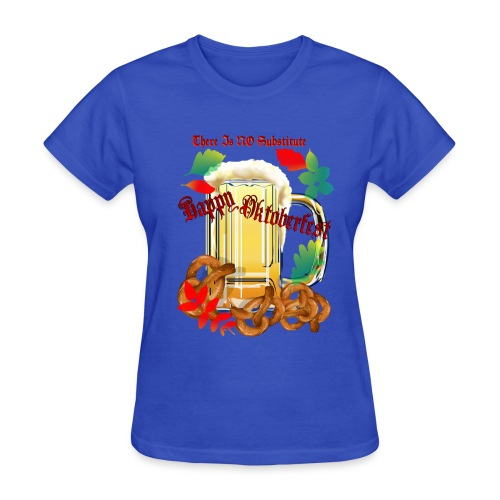 Beer and Pretels-There Is NO SubstituteHappy Octoberfest!  Time for dance and brew and the  humble pretzel.   - Women's T-Shirt