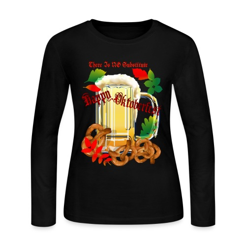 Beer and Pretels-There Is NO Substitute - Women's Long Sleeve Jersey T-Shirt