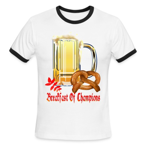 Breakfast Of Champions-Happy Oktoberfest! - Men's Ringer T-Shirt