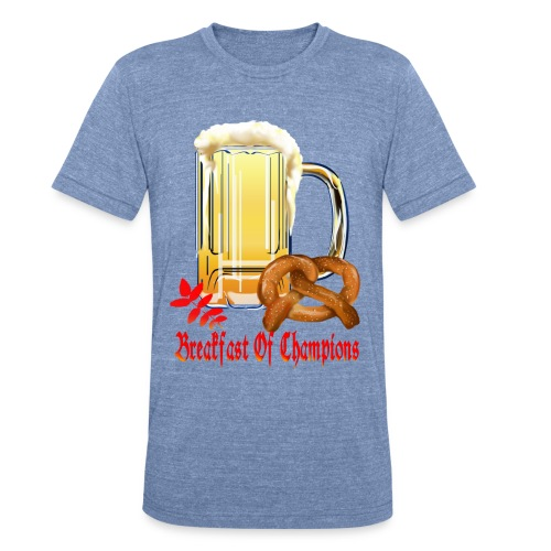 Breakfast Of Champions-Happy Oktoberfest! - Unisex Tri-Blend T-Shirt