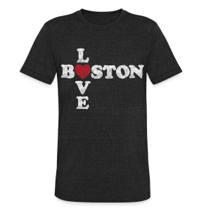 Boston Love - Unisex Tri-Blend T-Shirt by American Apparel