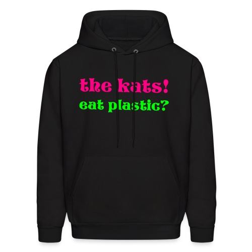 the kats eat plastic - Men's Hoodie