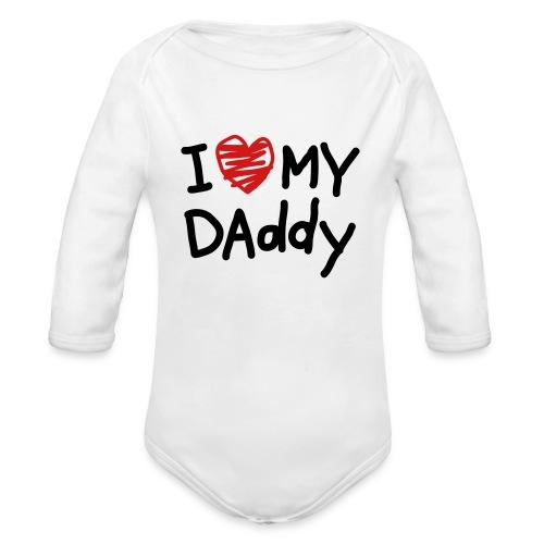 I Love My Daddy for Babies - Organic Long Sleeve Baby Bodysuit