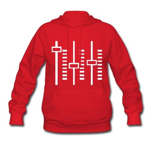 Women's Hooded Sweatshirt (Red w/ white) - Women's Hoodie