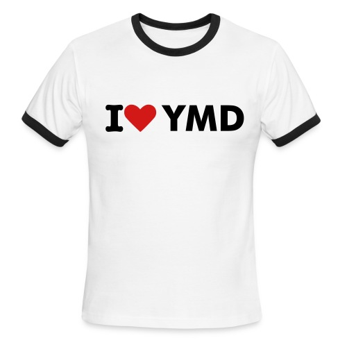 I LOVE YMD TEE - Men's Ringer T-Shirt