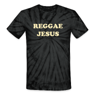 T-Shirts ~ Unisex Tie Dye T-Shirt ~ Reggae Jesus T-shirt by IZATRINI.com - inspired by Anya Ayoung Chee on Project Runway Season 9
