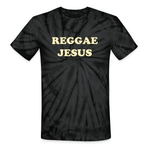 Reggae Jesus T-shirt by IZATRINI.com - inspired by Anya Ayoung Chee on Project Runway Season 9 - Unisex Tie Dye T-Shirt