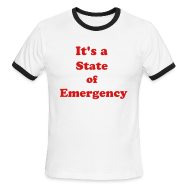 T-Shirts ~ Men's Ringer T-Shirt ~ Surviving the T&T State of Emergency by IZATRINI.com