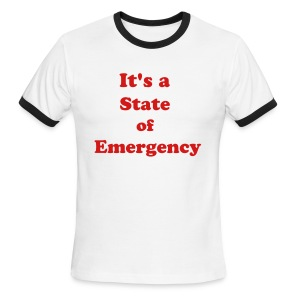 Surviving the T&T State of Emergency by IZATRINI.com - Men's Ringer T-Shirt