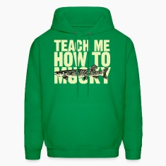 "Men's hoodie ""Teach Me How To Musky"" 