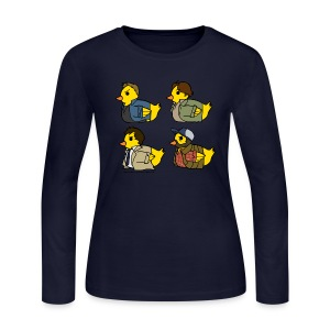 Duck Nation (DESIGN BY KARINA) - Women's Long Sleeve Jersey T-Shirt