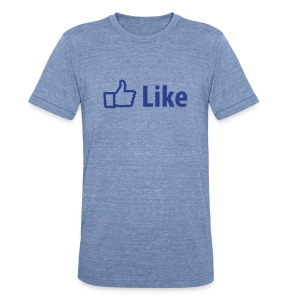 Like Men's Tri Blend Vintage T-Shirt by American Apparel - Unisex Tri-Blend T-Shirt