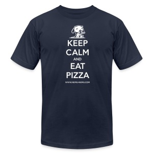 Eat Pizza AA Unisex - Men's T-Shirt by American Apparel