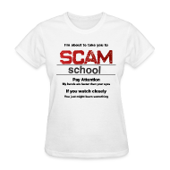 T-Shirts ~ Women's T-Shirt ~ Pay Attention, Ladies white tee