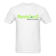 T-Shirts ~ Men's T-Shirt ~ Men's Revision3 White Tee