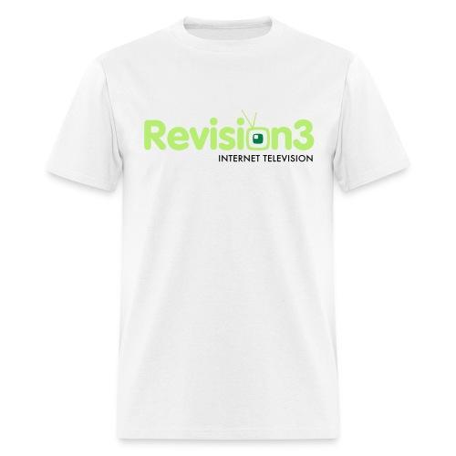 Men's Revision3 White Tee - Men's T-Shirt