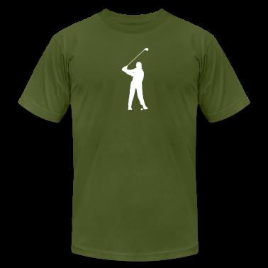 Golfer Silhouette T-Shirts