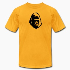 gorilla head shadow face T-Shirts