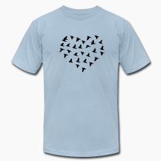 Heart Flock of Birds T-Shirts