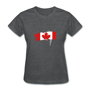 painted flag of Canada Women's T-Shirts