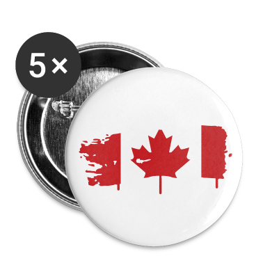painted flag of Canada Buttons