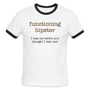 Functioning Hipster - Men's Ringer T-Shirt