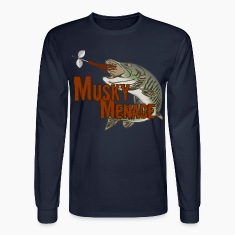 "Men's long sleeved t-shirt ""Musky Menace"" 