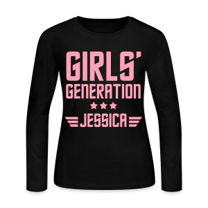 [SNSD] Genie Jessica - Women's Long Sleeve Jersey T-Shirt